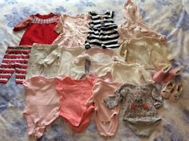 Bundle of girls clothes age 0-3months