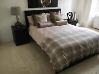 Ikea Malm Bedroom Furniture - Double Bed, 2 Bedside table drawers and 2 large set of drawers