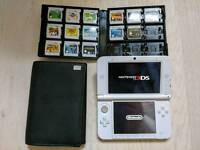 Nintendo 3DS XL White - OFFICIAL Case + 14 Games + 4GB Memory Card