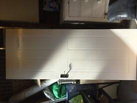 Internal door with handles - white