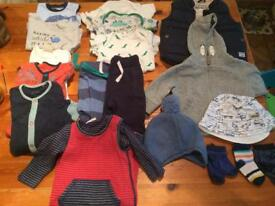 Bundle baby boys clothes (3-6months) - 18 items