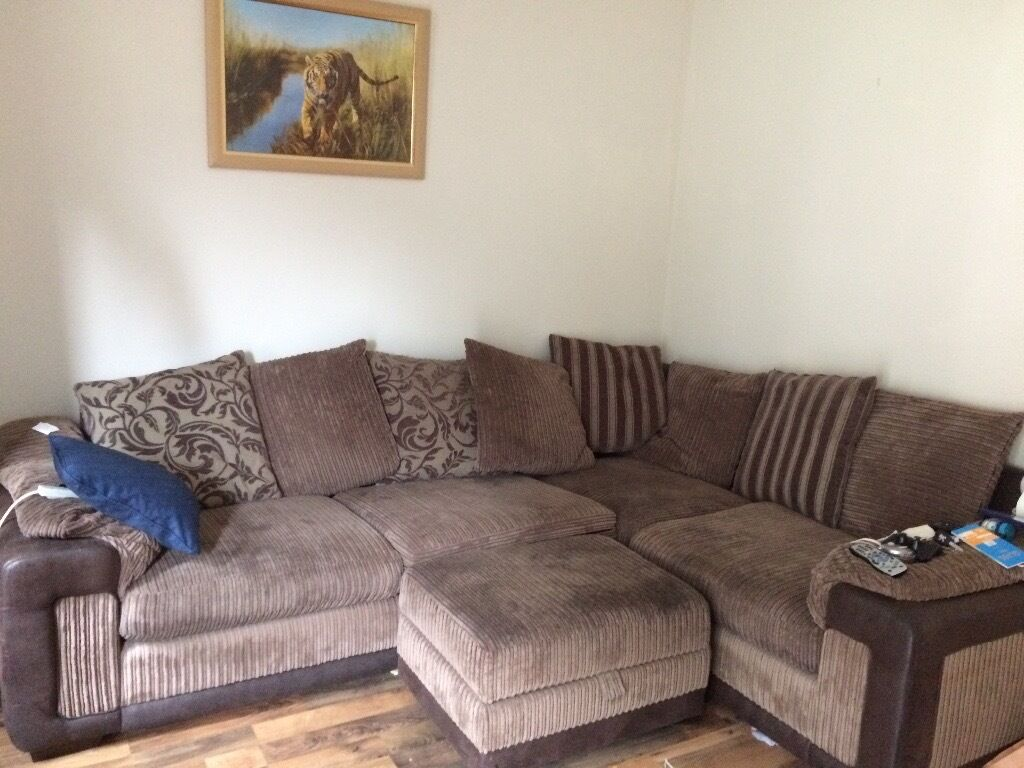 Large Dfs Desire Corner Sofa