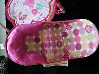 Baby bath seat and play gym and changing mat
