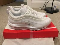 Nike Air max 97 triple white brand new size 9