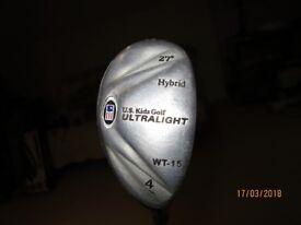 US Kids Golf, Hybrid 4, 27 degree loft