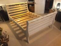 Gorgeous Shabby Chic Solid Pine Double Bed Frame