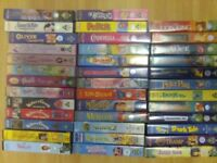38 VIDEOS VHS JOB LOT DISNEY WALLACE & GROMIT