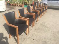 Antique oak boardroom or dining room chairs