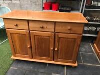 Pine sideboard cabinet dresser