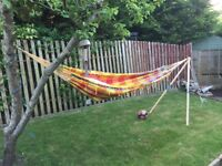 Hammock with stand.