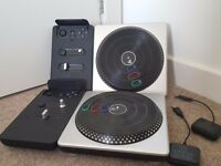 DJ Hero turntables x2 with adapters PS3