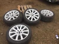 """New shape range rover 20"""" alloys tyres vw transporter"""
