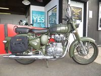 May 2016 - Royal Enfield Battle Green Classic 500 EFI - £3999. 487 miles on clock, Warranty