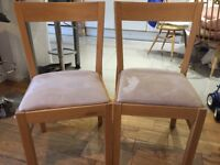 Pair of Oak Ikea Rodger Chairs, solid and in great condition