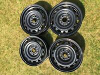 "Like New: Set of 4 16"" Steel Rims from Mazda"