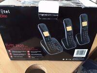 Eurotel Elite 2825 Cordless Phone With Answer Machine Triple