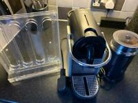Nespresso coffee machine and frother