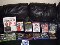 selection of dvd's playstation games 2