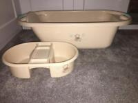 Baby bath and top to toe washing bowl