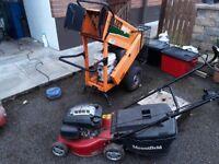 Garden shredder and lawn more