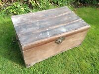 Old wooden chest/trunk