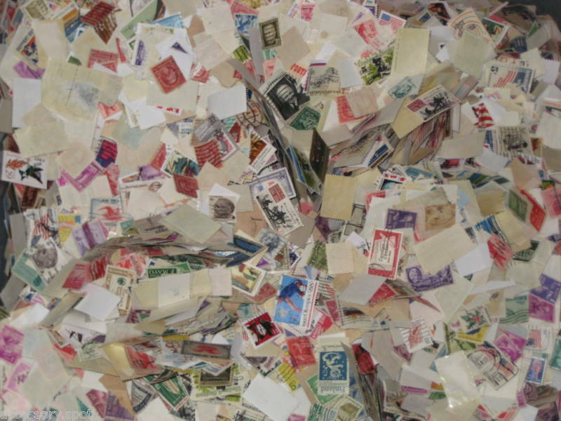 Used off Paper 1000 US Stamps From a huge hoard box collection!!!!!