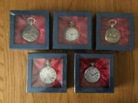 Pocket Watches x 5 (New and battery operated)