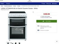 Band NEW 60cm Logik CERAMIC Electric Cooker Only £209