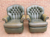 2 Chesterfield Tub Armchairs (UK Delivery)