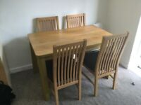 Table and chairs only £40