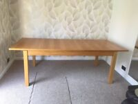 Ikea extendable dining table in good condition seats from 6 -14 people