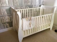Tutti Bambini Cot Bed+Drawer in White