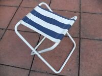 Blue and White - Foldable Chair Fishman Stool - Ideal for Festival Season and Light Weight - Durable