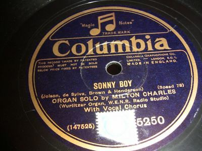 3/1 Milton Charles - Sonny Boy - There's a Rainbow Round my Shoulder