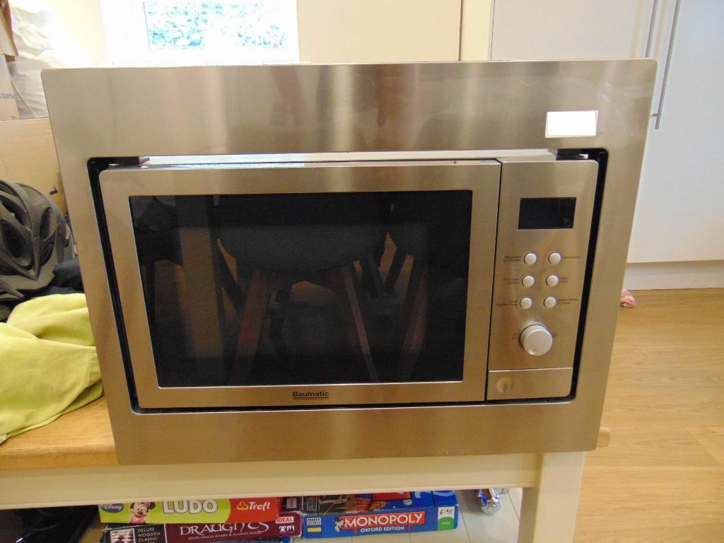 Baumatic Bmc253ss Integrated Microwave Combination Oven Can Be Used On Worktop With Surround Off