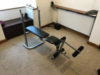 Weight Training Bench Adjustable Multi Gym Folding Fitness Bench With Leg Extension