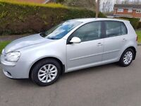 57 REG VW GOLF 1.9 TDI MATCH SILVER MANUAL WITH LEATHER VW M/D S/H 3 MONTHS WARRANTY MINT CONDITION