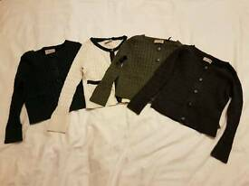 Girls ribbed cardigans x 4 by Next age 3 - 4