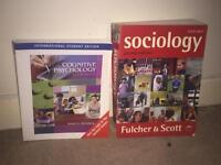 Psychology/Sociology textbooks for sale