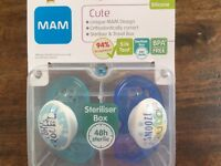 Mam blue Soothers (dummy's) Brabd new in box
