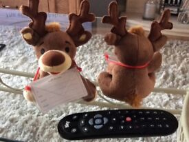 Small reindeer x 125, ideal for gift card, lottery ticket etc