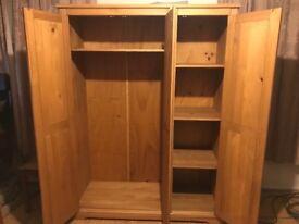 Wooden wardrobe 3 doors 50£.