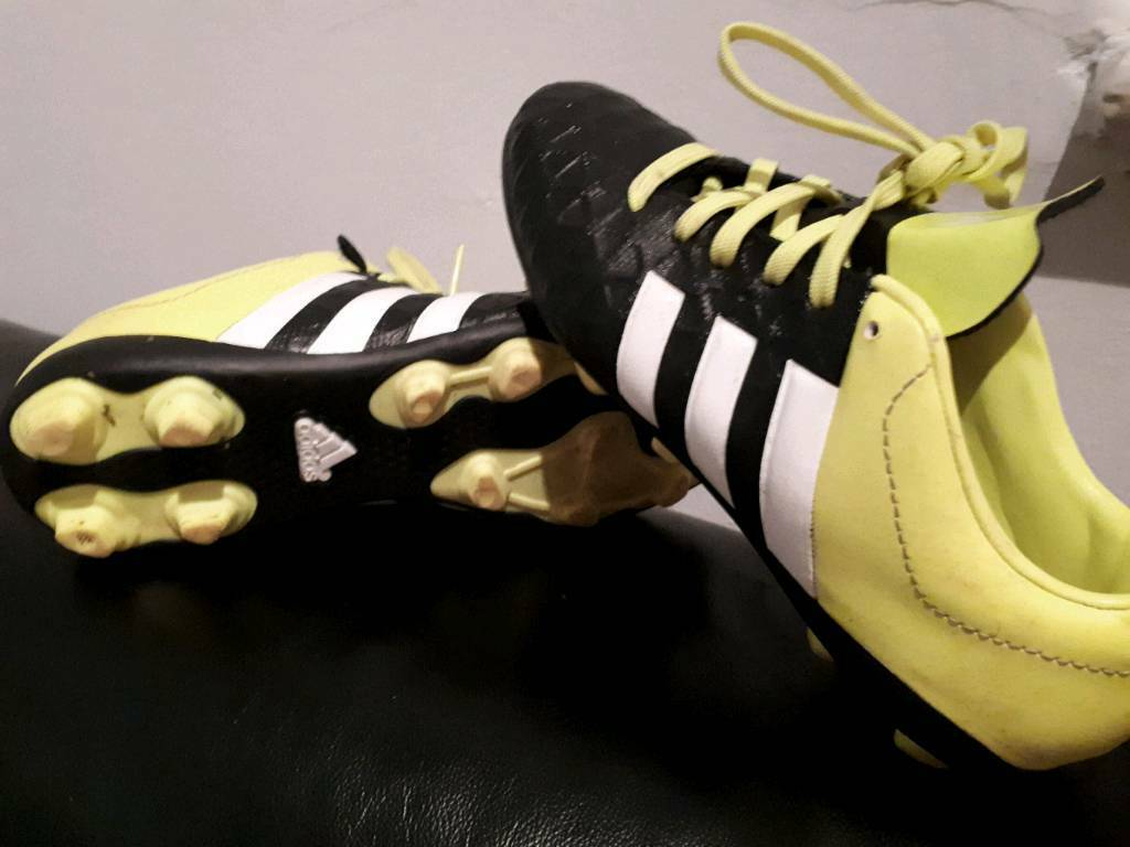 Size one adidas football boots. Worn once! Excellent cond