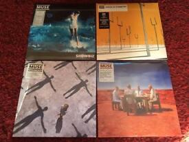 4 x MUSE vinyl albums