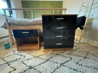 Free matching chest of drawers and bedside table