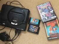 Megadrive original inc games and wires