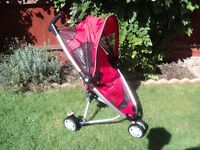 QUINNY ZAPP PUSHCHAIR IN RED EXCELLENT CONDITION ALL WHEELS WORKS SMOOTHLY