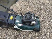 Petrol hayter lawn mower