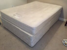 *MASSIVE CLEARANCE* Double Bed - mattress and base and 4 drawers