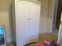 White Wood Kids Wardrobe - John Lewis